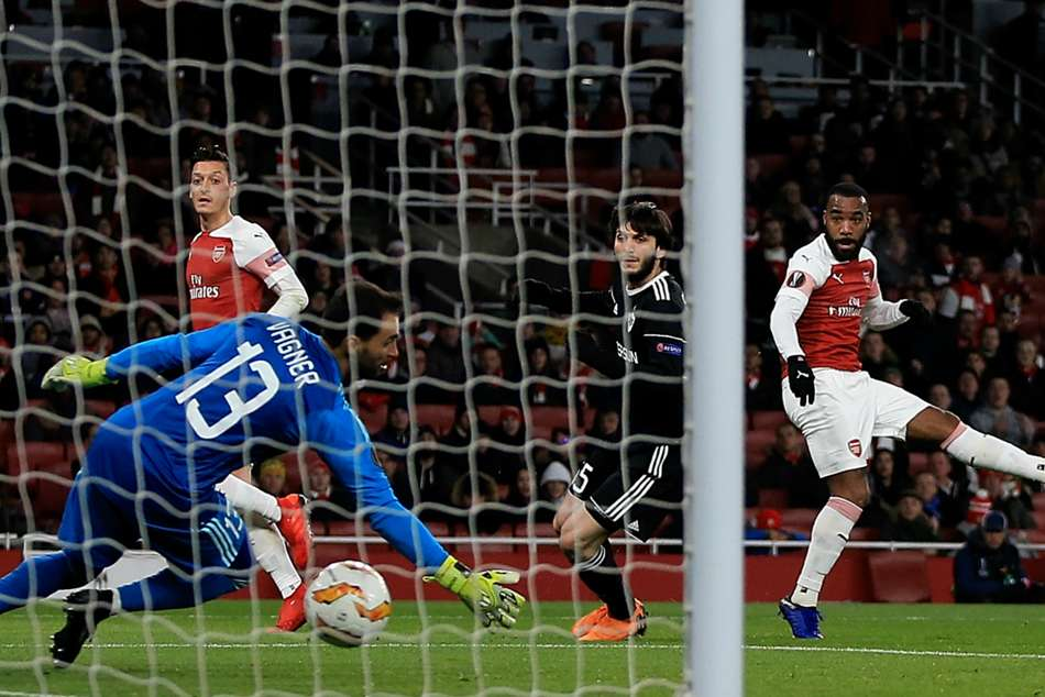 Arsenals Alexandre Lacazette scored the lone goal