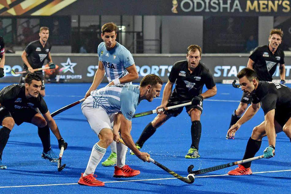 Hockey World Cup 2018 Olympic Champions Argentina Beat Nz 3 0 Brighten Direct Quarter Final Chances