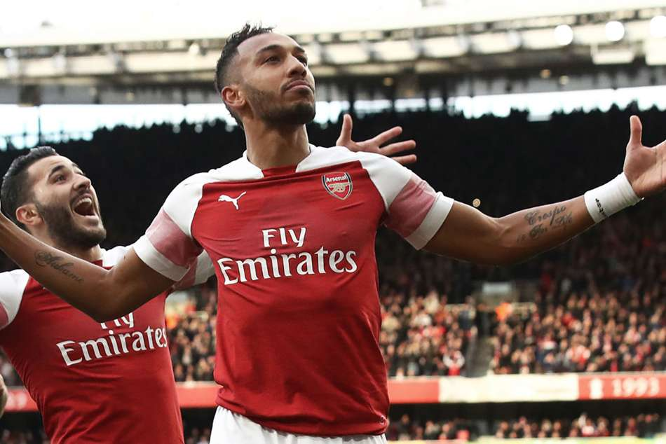 Arsenal star Pierre-Emerick Aubameyang sits top of the Premier League goal-scoring charts