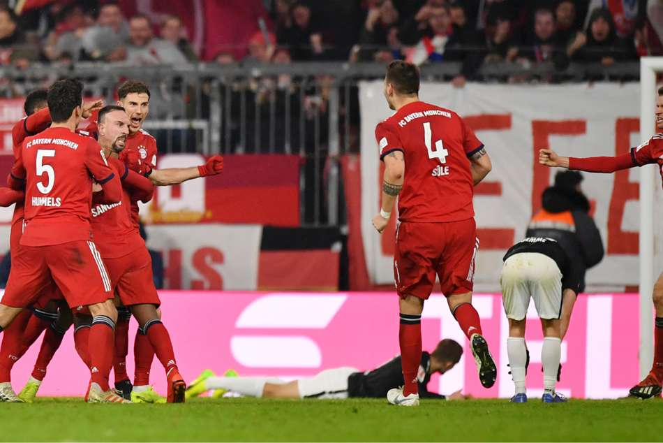 Bayern back to within six points of the top