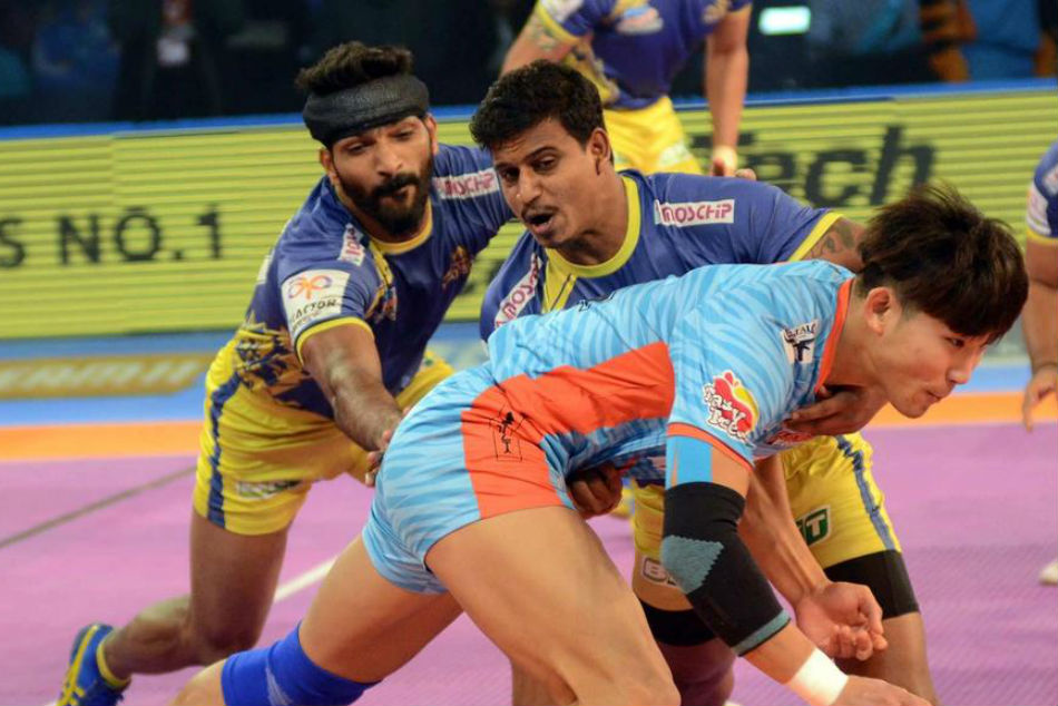 Pkl 2018 Jang Kun Lee Super 10 Gives Bengal Warriors Winning Start Over Tamil Thalaivas