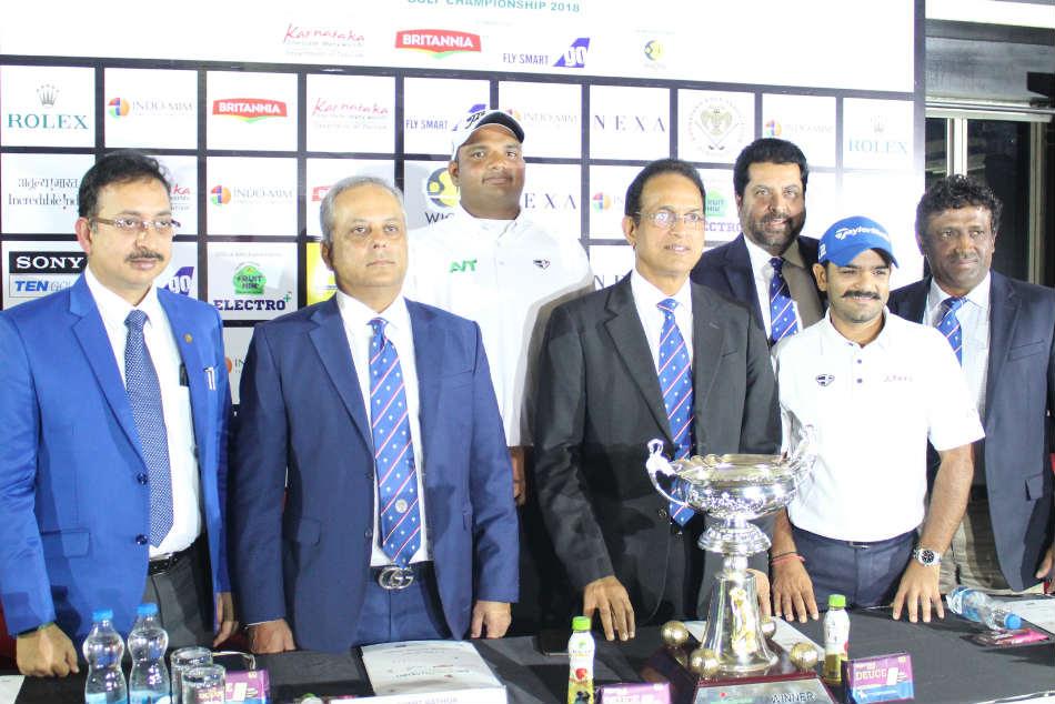 Bengaluru Open Golf Championship Top Stars Chiragh Mane Rashid Khan Tee Off At Kga