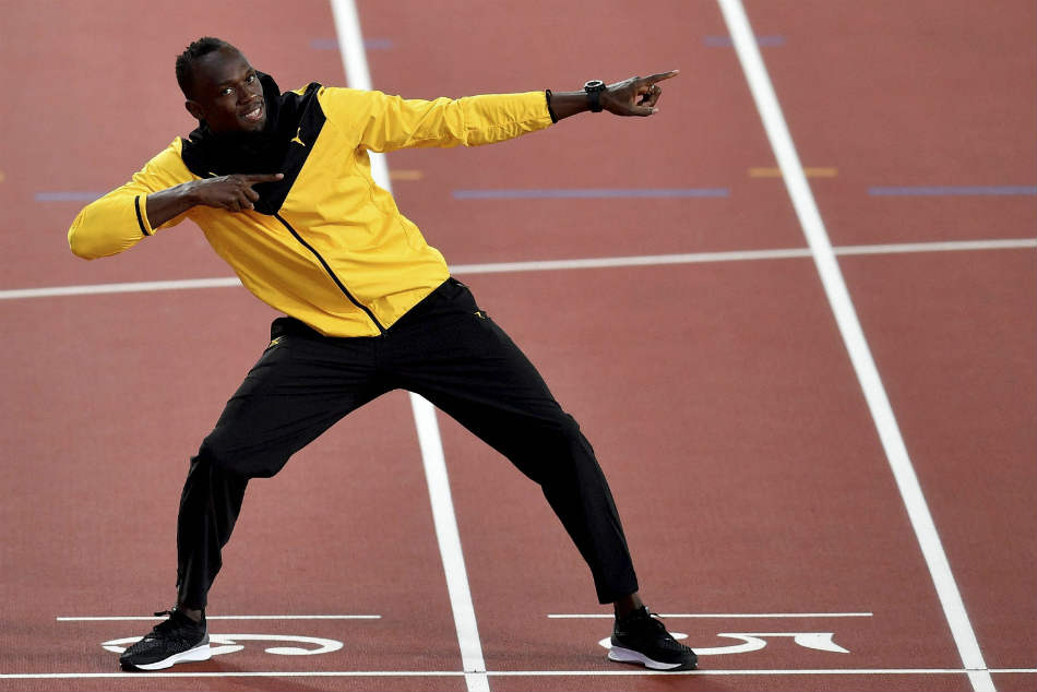 Watch the video Usain Bolt runs against astronauts at zero gravity zone