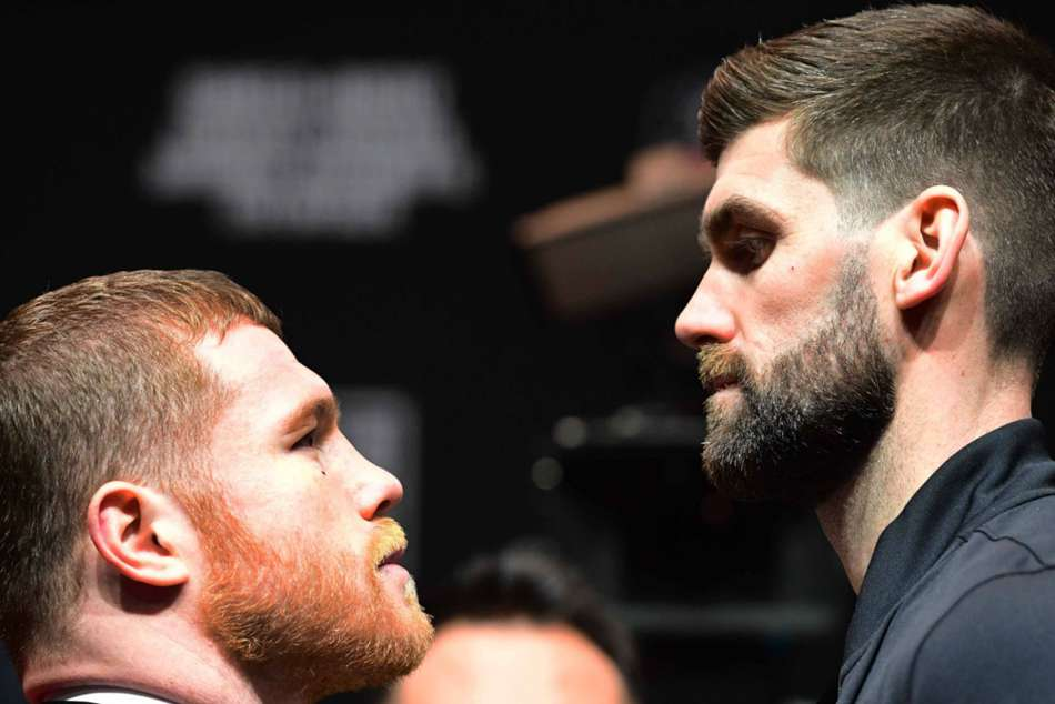 Saul Canelo Alvarez Rocky Fielding Weigh In Super Middleweight Wba Title Fight