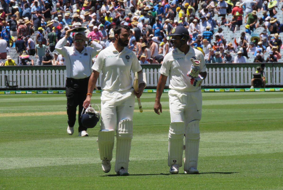 India Vs Australia 3rd Test Day 1 Highlights Mayank Agarwal Cheteshwar Pujara Shine