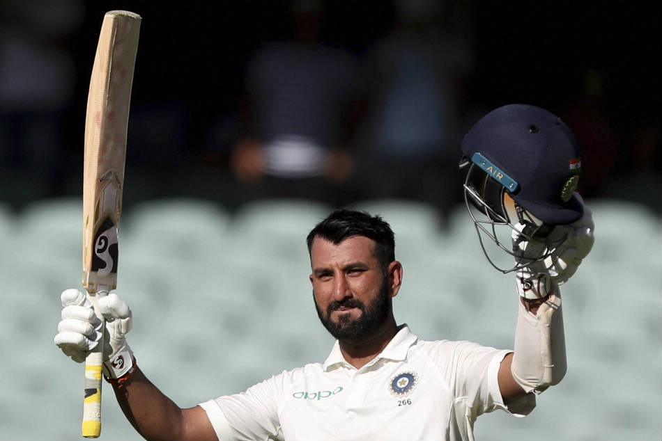 A hundred by Cheteshwar Pujara helped India reach 250 for 9