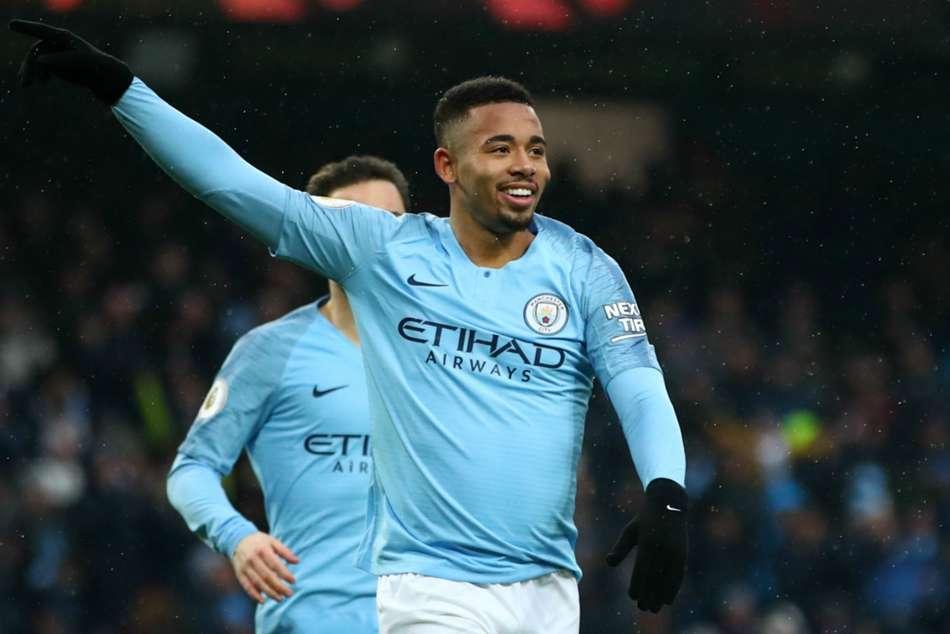Premier League Manchester City 3 Everton 1 Jesus At The Double As City Go Top