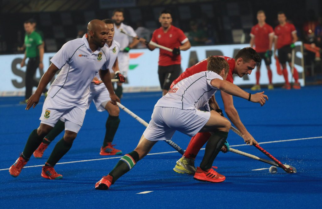 Hockey World Cup 2018 Canada South Africa Play 1 1 Draw Stay Alive