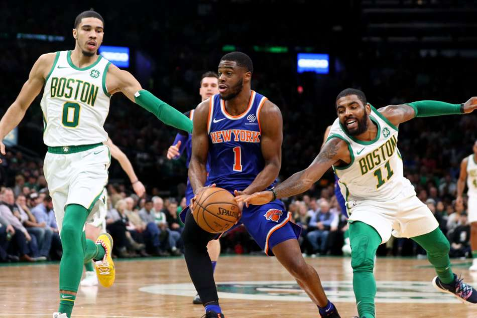 The Boston Celtics eased past the New York Knicks to extend their winning streak in the NBA.