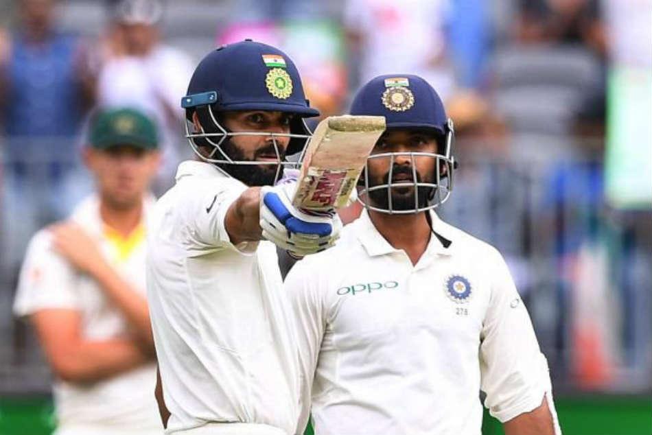 India Vs Australia 2nd Test Day 2 Kohli Rahane Keep India Steady