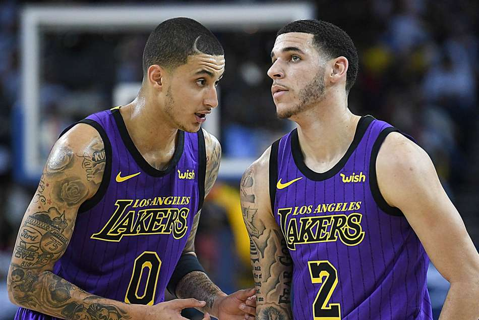 Kyle Kuzma (left) and Lonzo Ball were the stars in Lakers loss