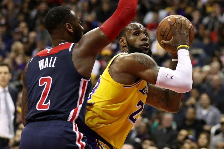Lebron James Los Angeles Lakers Washington Wizards John Wall Nba