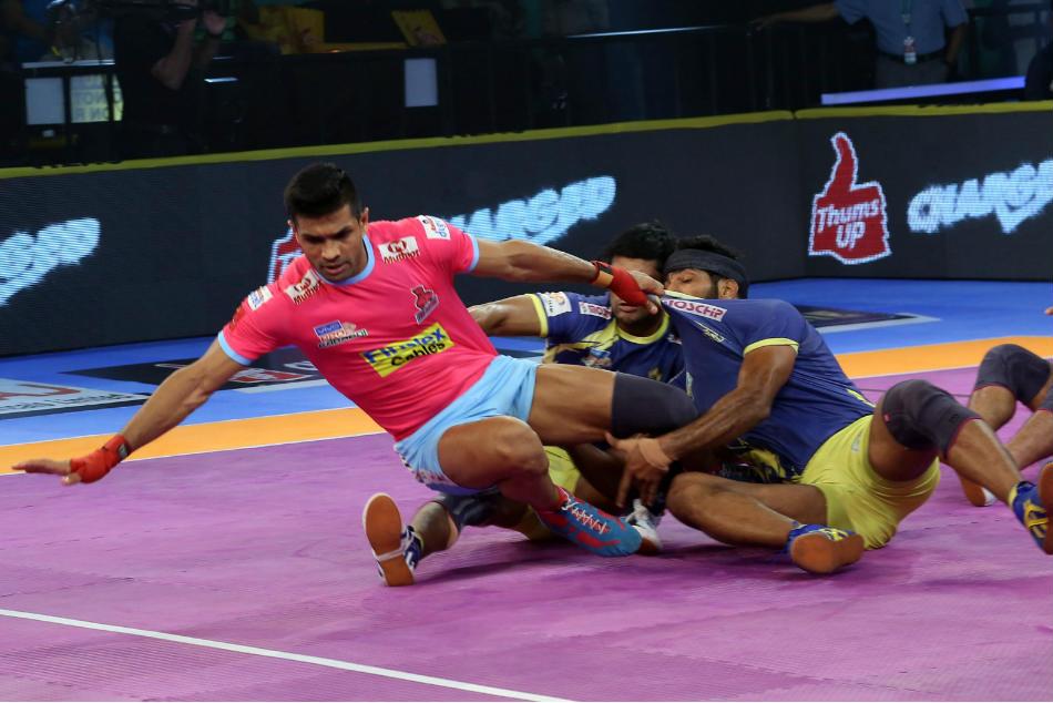 Pkl Clinical Jaipur Pink Panthers Hammer Tamil Thalaivas