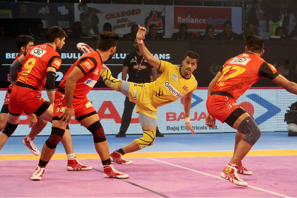 Pkl Bengaluru Bulls Notch Thumping Win Over Telugu Titans