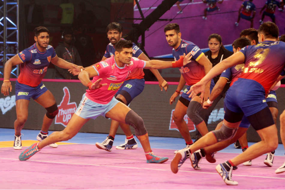 Pkl Dabang Delhi Play A Thrilling Tie Against Jaipur Pink Panthers