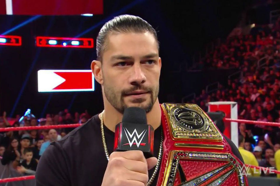 Roman Reigns announced his battle with Leukemia (image courtesy WWE)