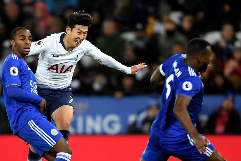 Leicester City Tottenham Son Heung Min Dele Alli Premier League