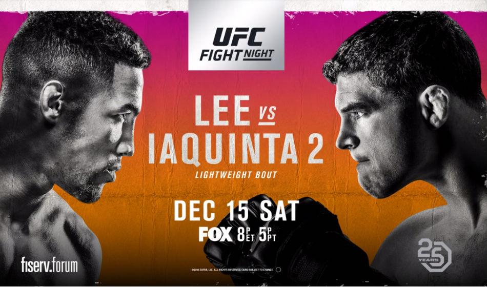 Ufc On Fox 31 Lee Vs Iaquinta 2 Fight Card Schedule