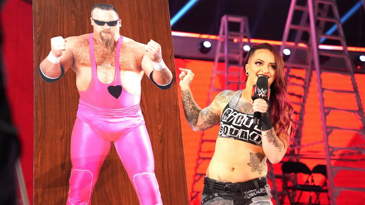 Ruby Riott with a pathetic storyline on Jim Neidhart (image courtesy WWE.com)