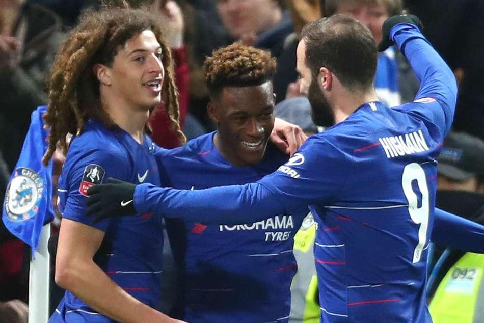 Chelsea 3 Sheffield Wednesday 0 Bayern Target Hudson Odoi Nets On Higuain Debut