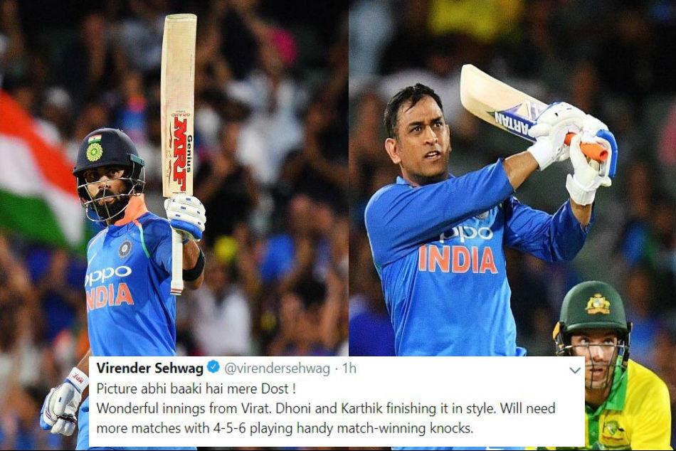 India Vs Australia Twitterati Salute Virat Kohli Ms Dhoni For Guiding Team India To Win