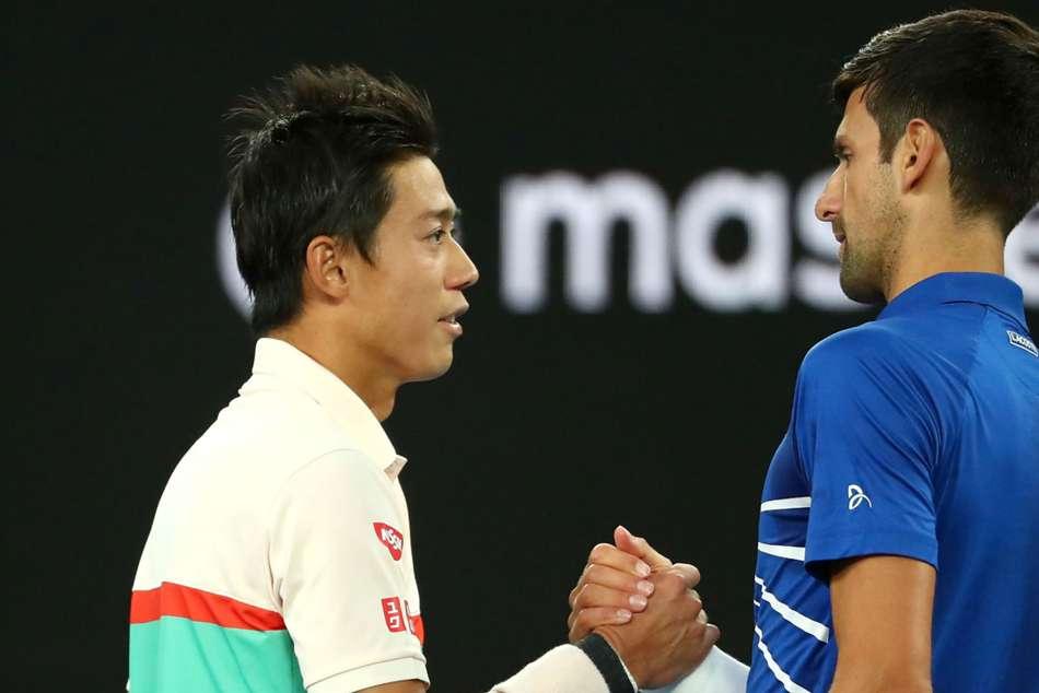 Novak Djokovic Kei Nishikori Australian Open