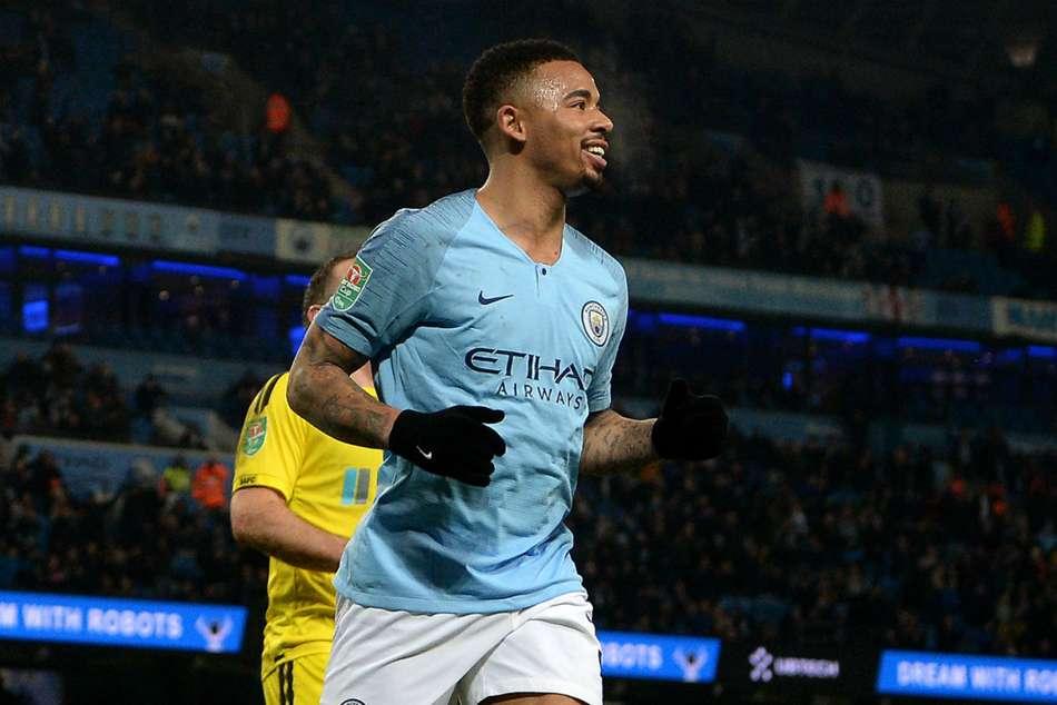 Manchester City Burton Albion Efl Cup Semi Final Gabriel Jesus Four