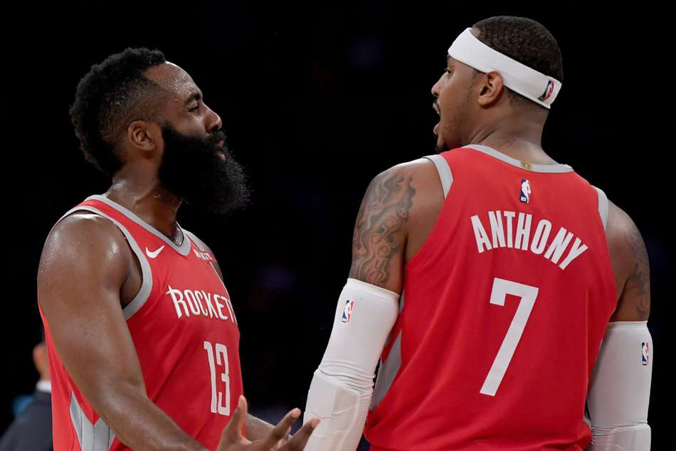 Nba News Houston Rockets James Harden On Carmelo Anthony Trade It Kind Of Sucks That It Didnt Work Out Chicago Bulls Lakers