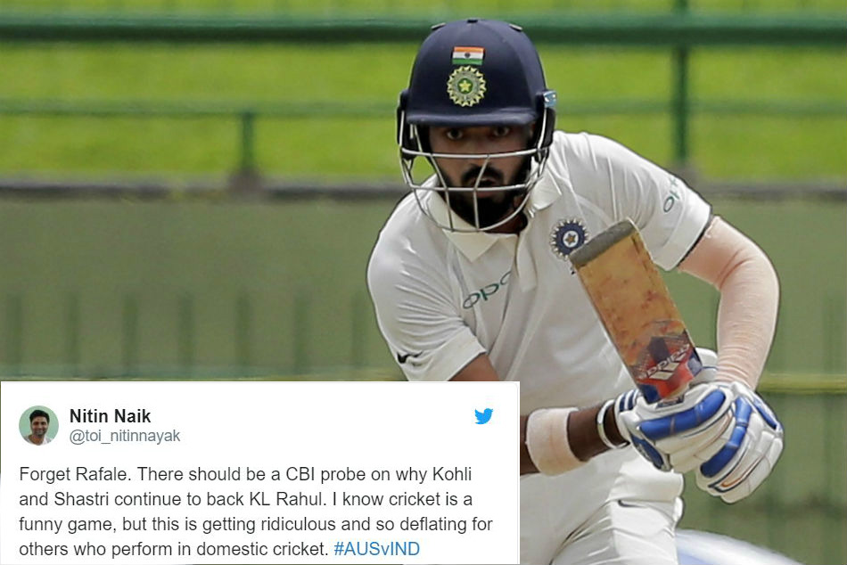 India Vs Australia Kl Rahul Slammed On Twitter Flop Show Sydney Test