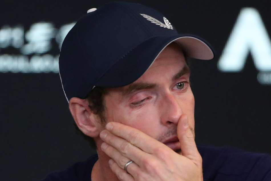 Andy Murray broke down in tears at Melbourne Park