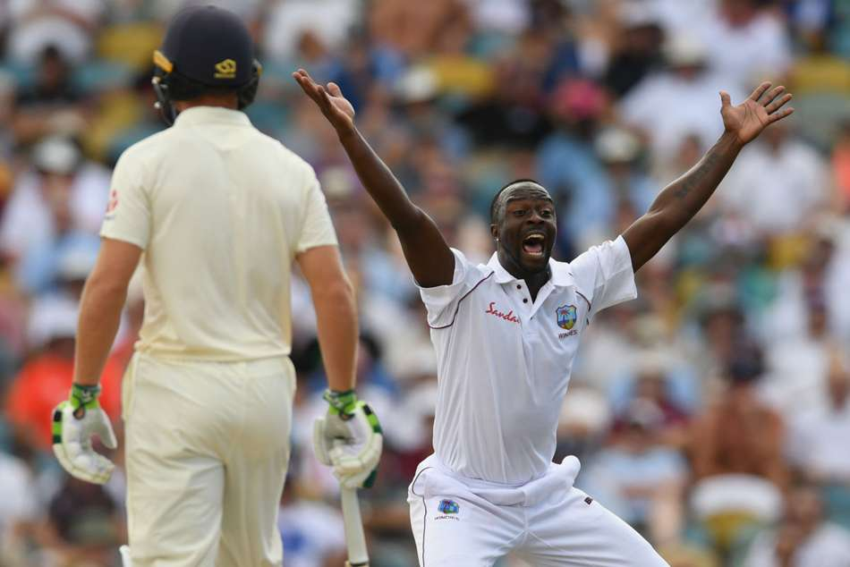 England 77 All Out Roach Stars West Indies First Test Day Two Report