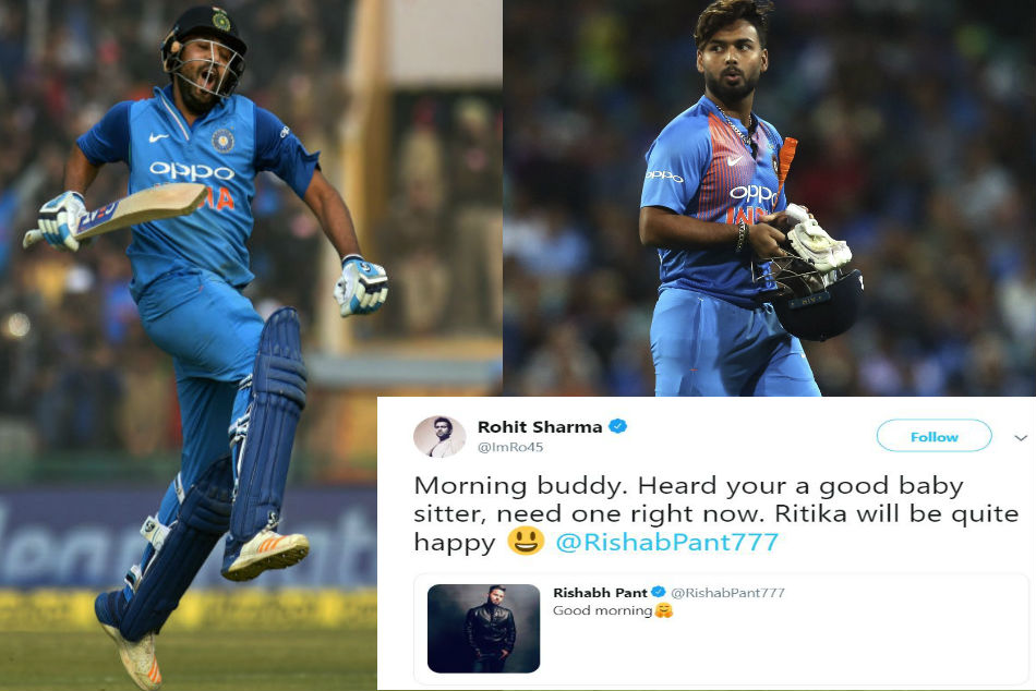 Image result for rohit sharma and rishabh pant