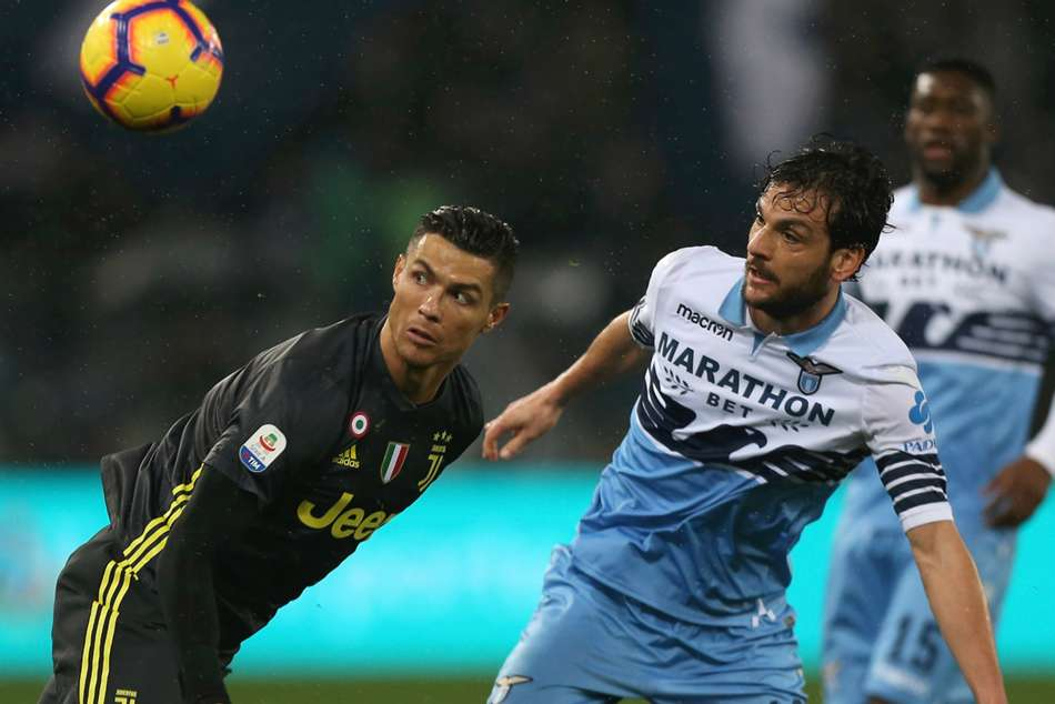 Lazio 1 Juventus 2 Ronaldo Cancelo Save Seriea Champions