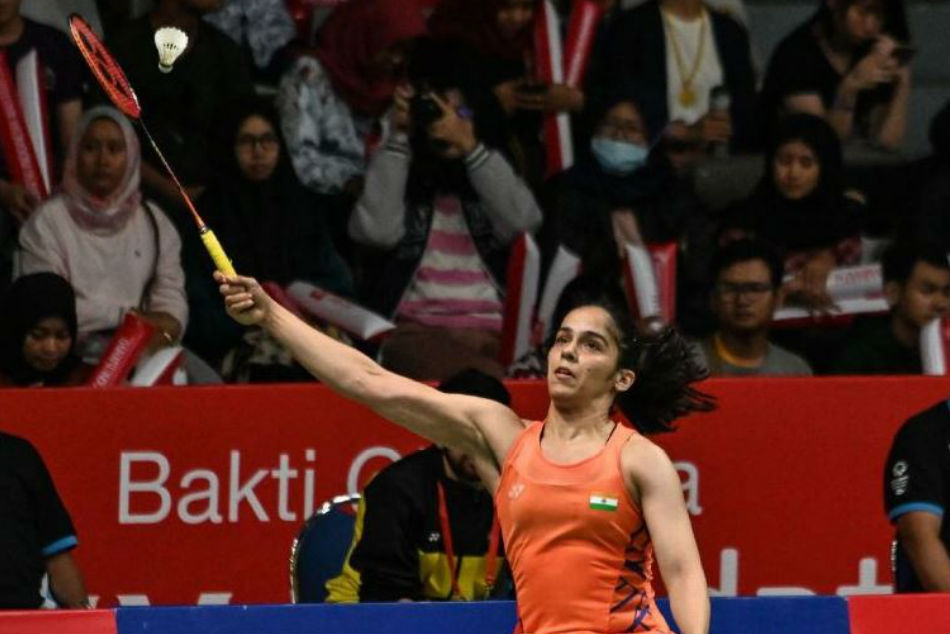 Saina Nehwal in action at the Indonesia Masters finals (Image Courtesy: Twitter)