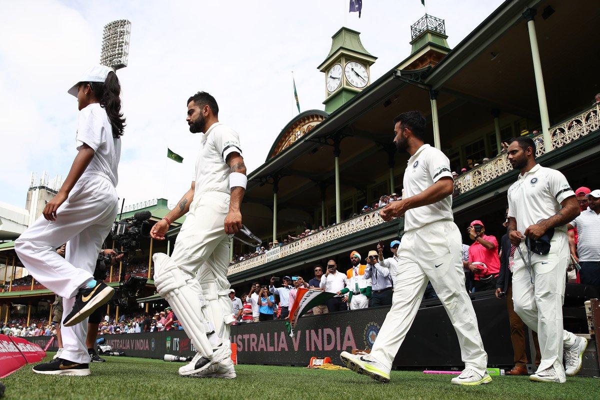 India Vs Australia Team India Sports Black Armbands Mourn Demise Of Ramakant Achrekar
