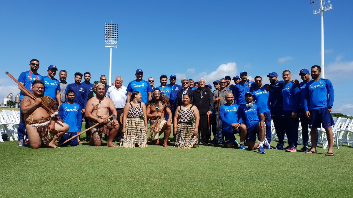 India Vs New Zealand Team India Gets Traditional Maori Welcome At Bay Oval