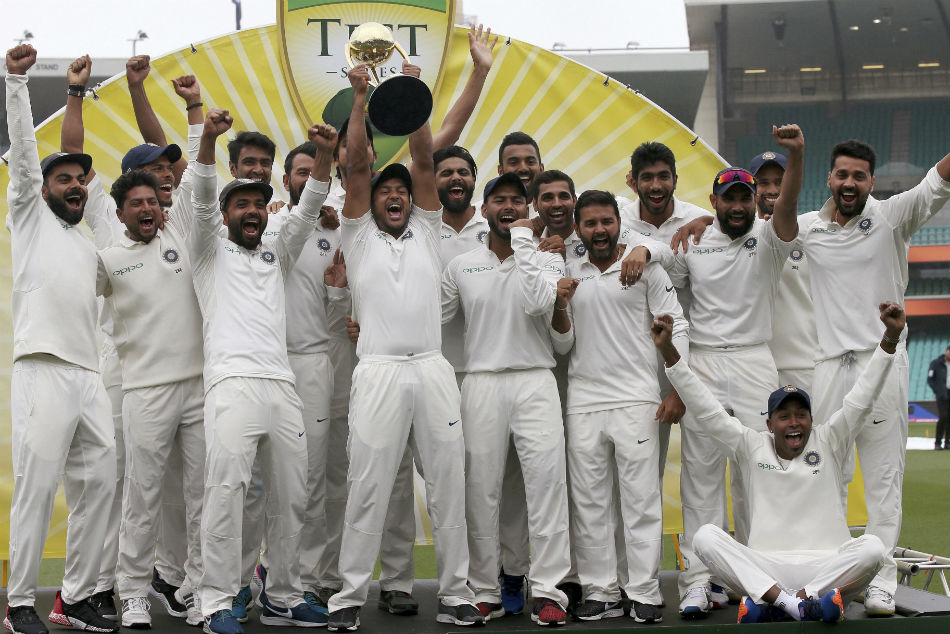 Virat Kohli Boys Revel Sydney As Team India Lifts Maiden Border Gavaskar Trophy Australia