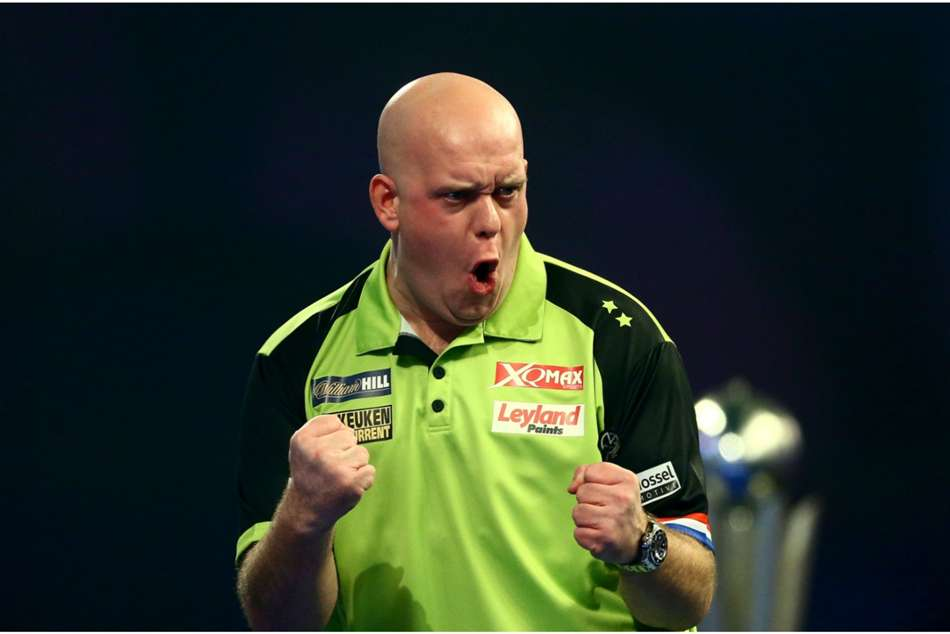 Michael van Gerwen celebrates third PDC World title