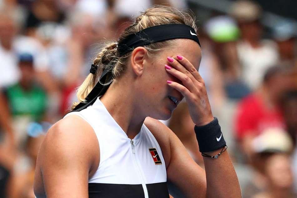 Victoria Azarenka Tearful News Conference Australian Open First Round Loss