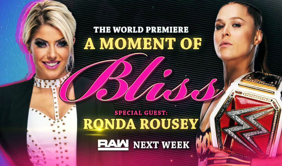 Moment of Bliss segment announced on WWE Raw (image courtesy Twitter)