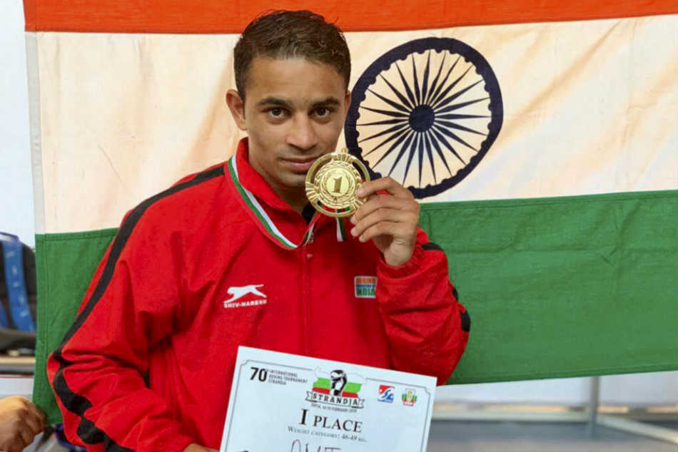 Amit Panghal dedicates his gold in the 49kg category to the Pulwama victims