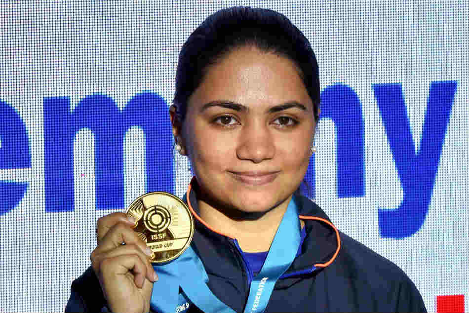 Indias Apurvi Chandela won the gold with world record in womens 10M air pistol
