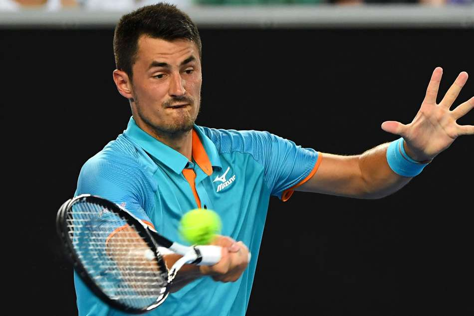 Bernard Tomic returns to Lukas Lacko at the New York Open