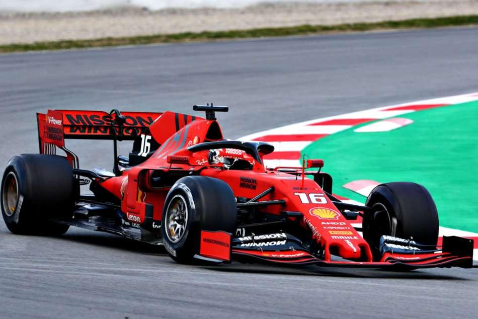 Formula One Testing Ferrari Charles Leclerc Impresses