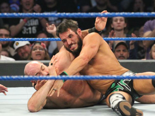 Johnny Gargano goes up against Cesaro