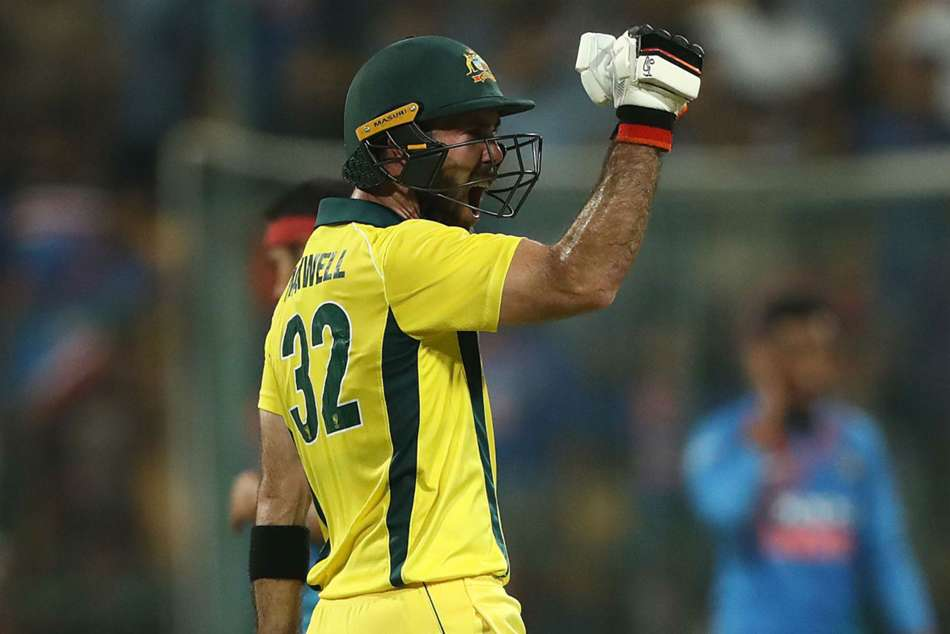 Glenn Maxwell T20 Century India Peter Handscomb Virat Kohli Reaction