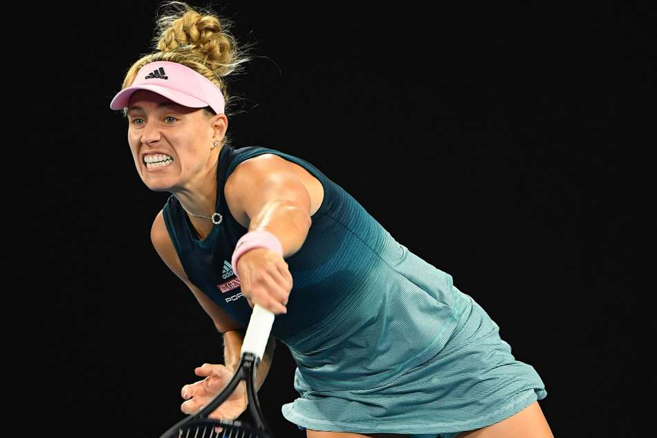 Angelique Kerber in action at the Qatar Open