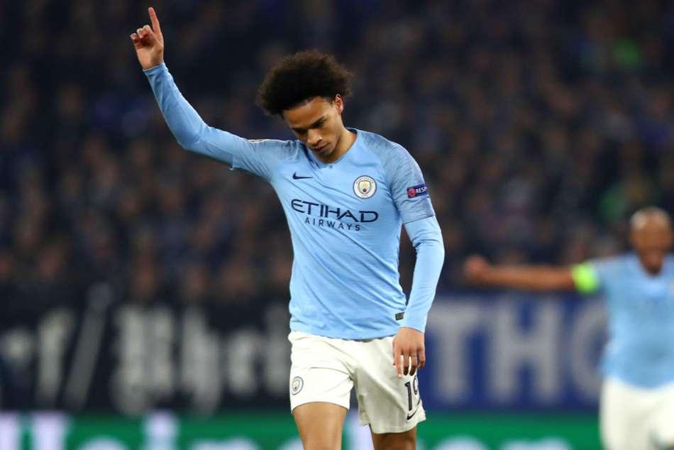 Schalke 2 Manchester City 3 Leroy Sane Raheem Sterling