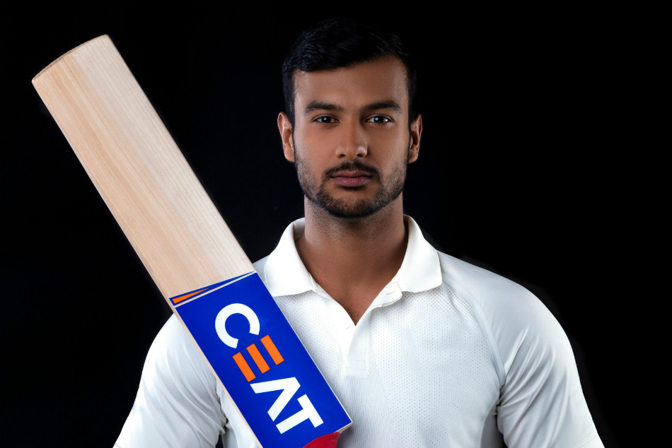 Mayank Agarwal Lands Bat Sponsorship From Ceat