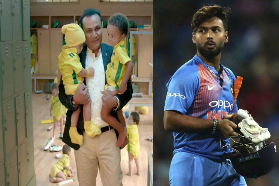 India Vs Australia Rishabh Pant Gives Hilarious Response Virender Sehwag S Babysitting Advertisement